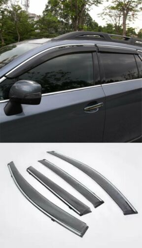 For Subaru Outback 2015-2019 Smoked Side Window Visor Rain Sun Guard Vent Shade