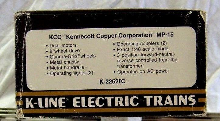 K-LINE 2252IC KENNECOTT COPPER CORP. MP-15