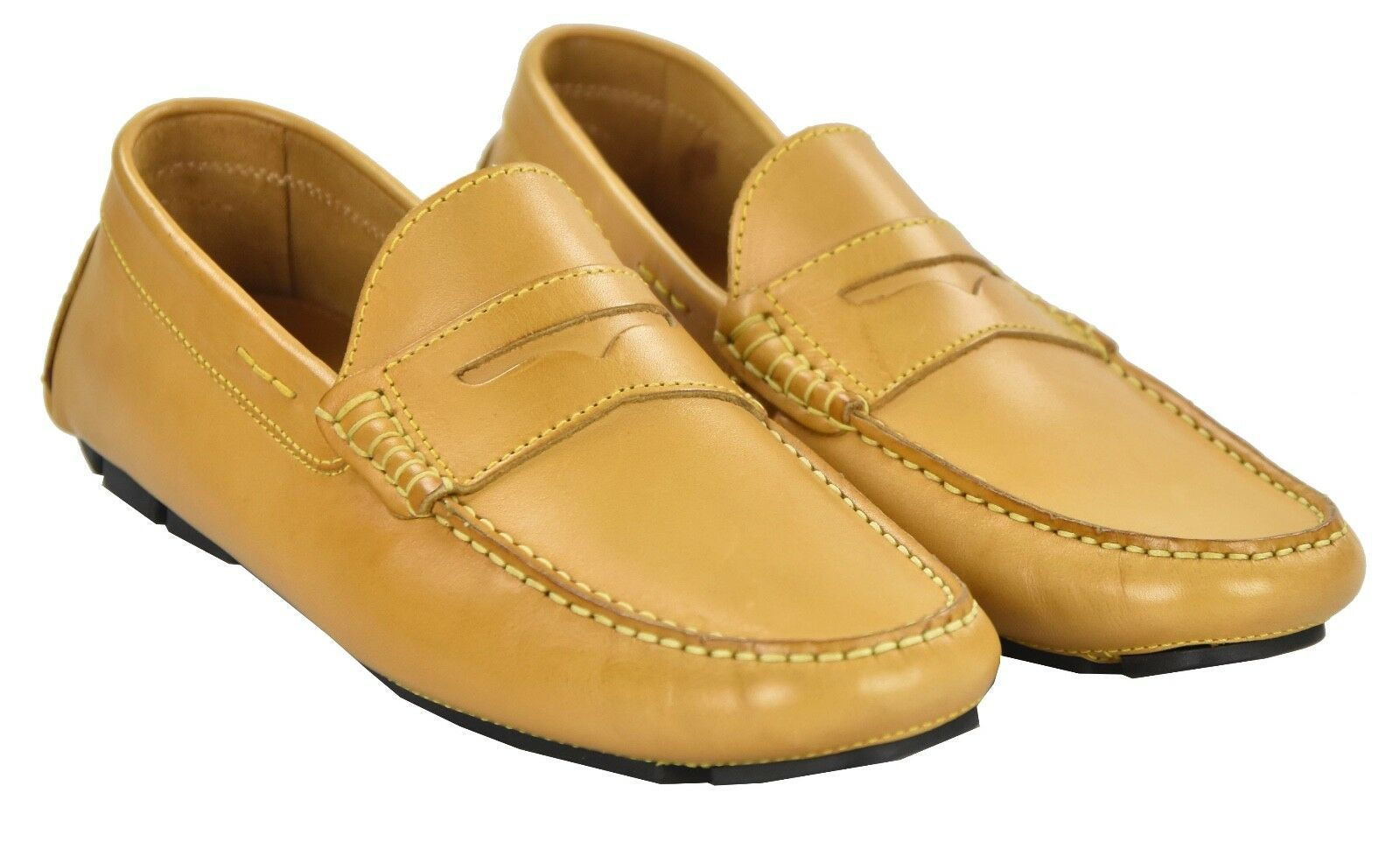 NEW KITON NAPOLI LOAFERS SHOES 100% LEATHER SIZE 8 US 41 O34