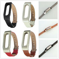 Replacement Leather/metal Strap Bracelet Wrist For Original Xiaomi Miband 1s 1a