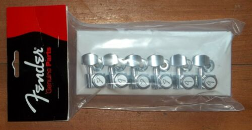 """Fender® American Deluxe Locking Chrome Tuners~/""""F/"""" Logo~Staggered Posts~Brand New"""