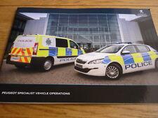 Unusual PEUGEOT POLICE, & BLUE LIGHT SEVICES VEHICLES Brochure  jm