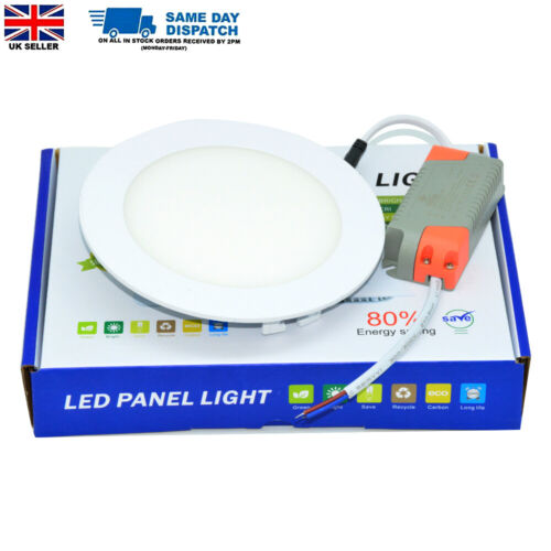 6W/9W Round LED Ceiling Panel Light Ultra Slim Cool White Downlight with Driver