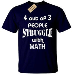 4-su-3-persone-che-lottano-con-la-matematica-da-Uomo-Divertente-T-Shirt-S-5XL-scherzo-regalo
