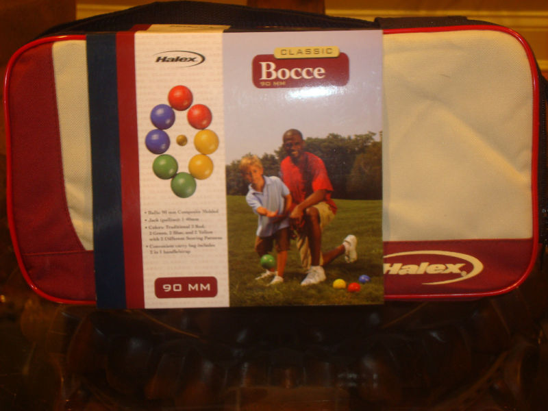 HALEX CLASSIC 90MM BOCCE BOCCI  BALL SET CARRY CASE BRAND NEW