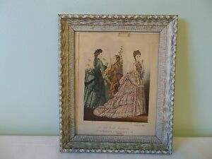 1873 Framed New York Fashions Color Prints by E. Butterick & Co