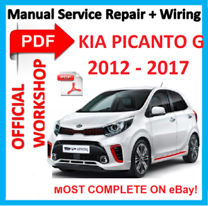 official workshop manual service repair for kia picanto g kappa 2012 rh ebay com kia picanto 2012 service repair manual kia picanto factory service repair manual