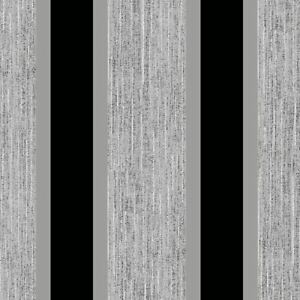 STRIPE-WALLPAPER-BLACK-amp-SILVER-DIRECT-WALLPAPERS-E87519-FEATURE-WALL-NEW
