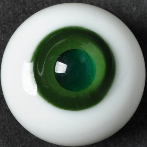 Good DarkGreen pupil/&Gray Iris 16mm Glass Eyes for Joint Reborn 1//4 BJD Dollfie