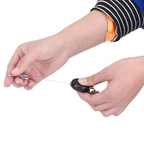 Retractable Key Chain Reel Steel Cord Recoil Belt Ring Badge Pass ID Card DSUK