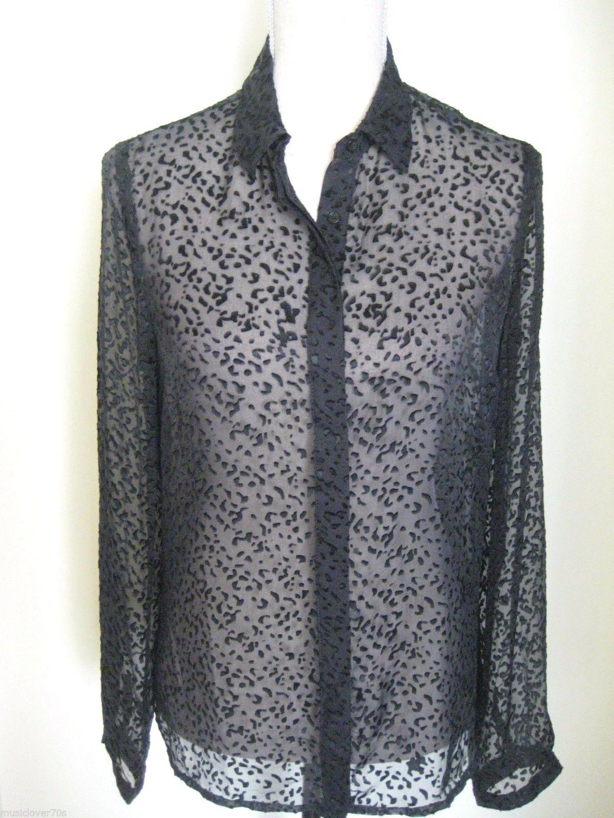 DAVID LAWRENCE NWT rrp  Größe 8 US 4 schwarz Silk Blend Blouse Shirt