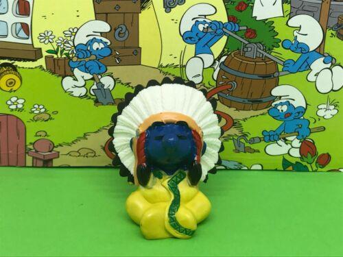20556 Indian chef American Native Indian Smurf Smurfs Schlümpfe Peyo Allemagne CE