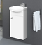 Badmobel-Set-Gaste-WC-Waschtischunterschrank-Keramikwaschbecken-Spiegelschrank