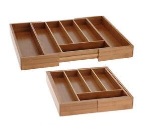 besteckkasten ausziehbar bambus besteckeinsatz holz schublade besteck ebay. Black Bedroom Furniture Sets. Home Design Ideas