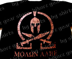 016ec16358a MOLON LABE T shirt SPARTAN COME AND TAKE IT THEM BLK COPP SPEC OPS ...