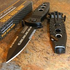 TAC-FORCE Spring Assisted Opening BLACK DAGGER Rescue Glass Breaker Knife NEW