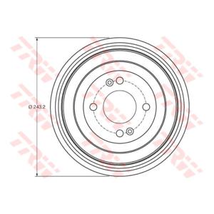 TRW DB4422 Bremstrommel