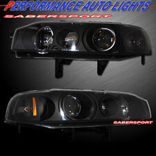 1990-1993 HONDA ACCORD 2DR 4DR PROJECTOR HEADLIGHTS BLACK HOUSING PAIR