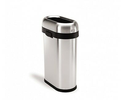 simplehuman 50 litre stainless steel slim open can