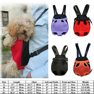 Nylon Mesh Pet Carrier Comfort Travel Puppy Dog/Cat Backpack Front Bag Tote