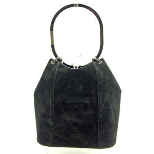 40ec951f5f5 Image is loading Gucci-Handbag-Black-Silver-Woman-Authentic-Used-Y6004