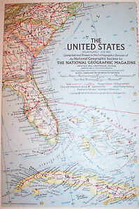 Vintage 1961 National Geographic Map-United States-25\