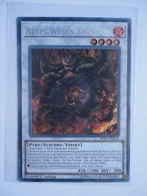 TOP! Yu-Gi-Oh Altes Wesen Cthugua SHVA-DE016 Secret Rare