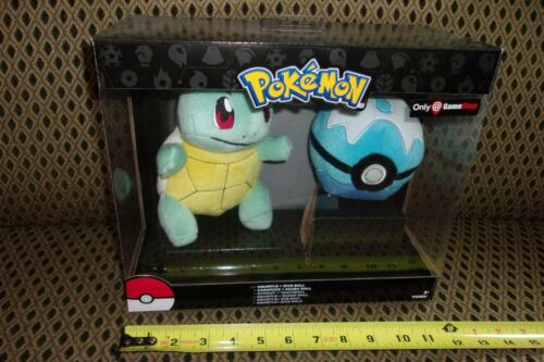 Pokemon Plush Squirtle and Dive Ball Combo Gamestop Exclusive New in Box TOMY