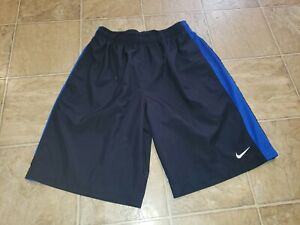 Details about NIKE DRI FIT MEN SZ L BASKETBALL SHORTS DARK BLUE POLYESTER 9 12