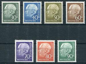 Bund-Nr-259-265-sauber-postfrisch-BRD-Heuss-II-Satz-komplett-1956-MNH