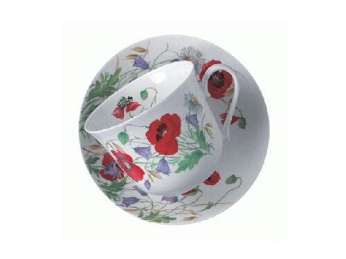 Roy Kirkham Jumbotasse English Meadow Mohnblumen inkl Untertasse große Tasse