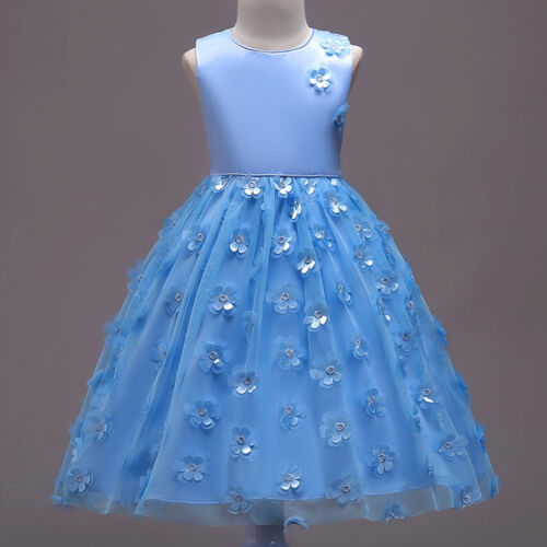 Flower Girl Princess Bridesmaid Pageant Tutu Tulle Gown Party Wedding Dress L0