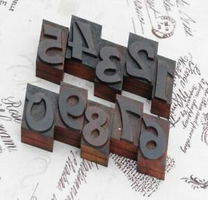 0-9-Zahlen-36-mm-Plakatlettern-Lettern-Druckstempel-Stempel-Typen-Schrift-stamp