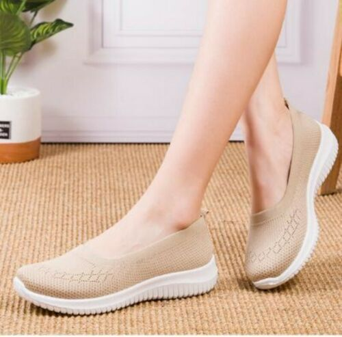 Details about  /Women/'s Casual Shoes Solid Breathable Loafers Slip On CreepersRound Toe Shoes B