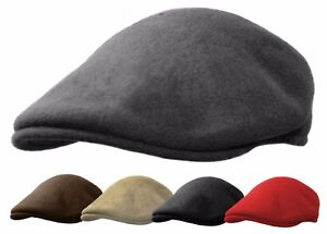 100% WOOL IVY CAP GATSBY NEWSBOY HAT CABBIE FELT FLAT DRIVING ASCOT ... 2e80c0ec125