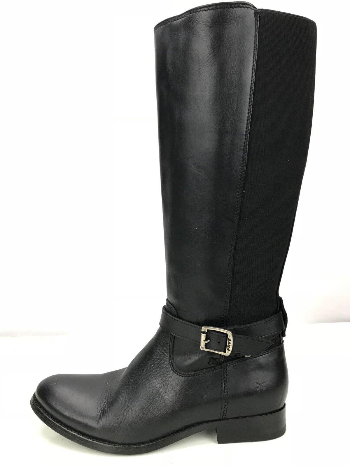 Frye Melissa botas-Gore Tex rodilla alta botas botas botas de montar para mujer de cuero negro 9B  barato y de alta calidad
