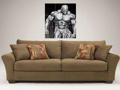 """RONNIE COLEMAN MOSAIC 35/""""X25/"""" INCH WALL POSTER BODYBUILDING BIG RON"""