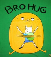 Adventure Time With Finn & Jake bro Hug Men's T-shirt Officially Licensed