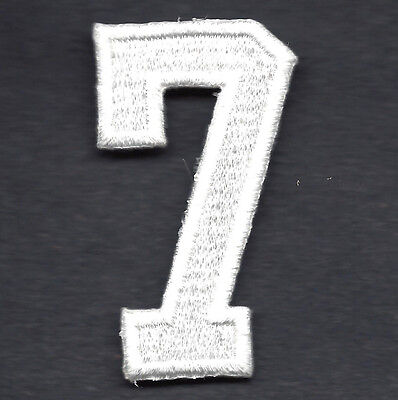 """Iron On Embroidered Applique//Numbers 1 7//8/"""" Navy Blue Number /""""7/"""" NUMBERS"""