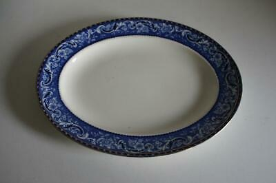 Alfred Meakin A Lovely Vintage Alfred Meakin Oval Plate/platter Blue On White,leighton Pattern