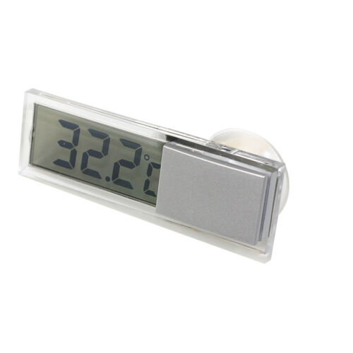 1pc Transparent Digital LCD Car Windscreen Temperature Thermometer Suction Cup