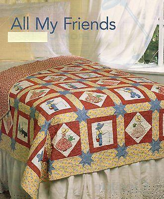 All My Friends Quilt Pattern Pieced//Fussy Cut Applique RN