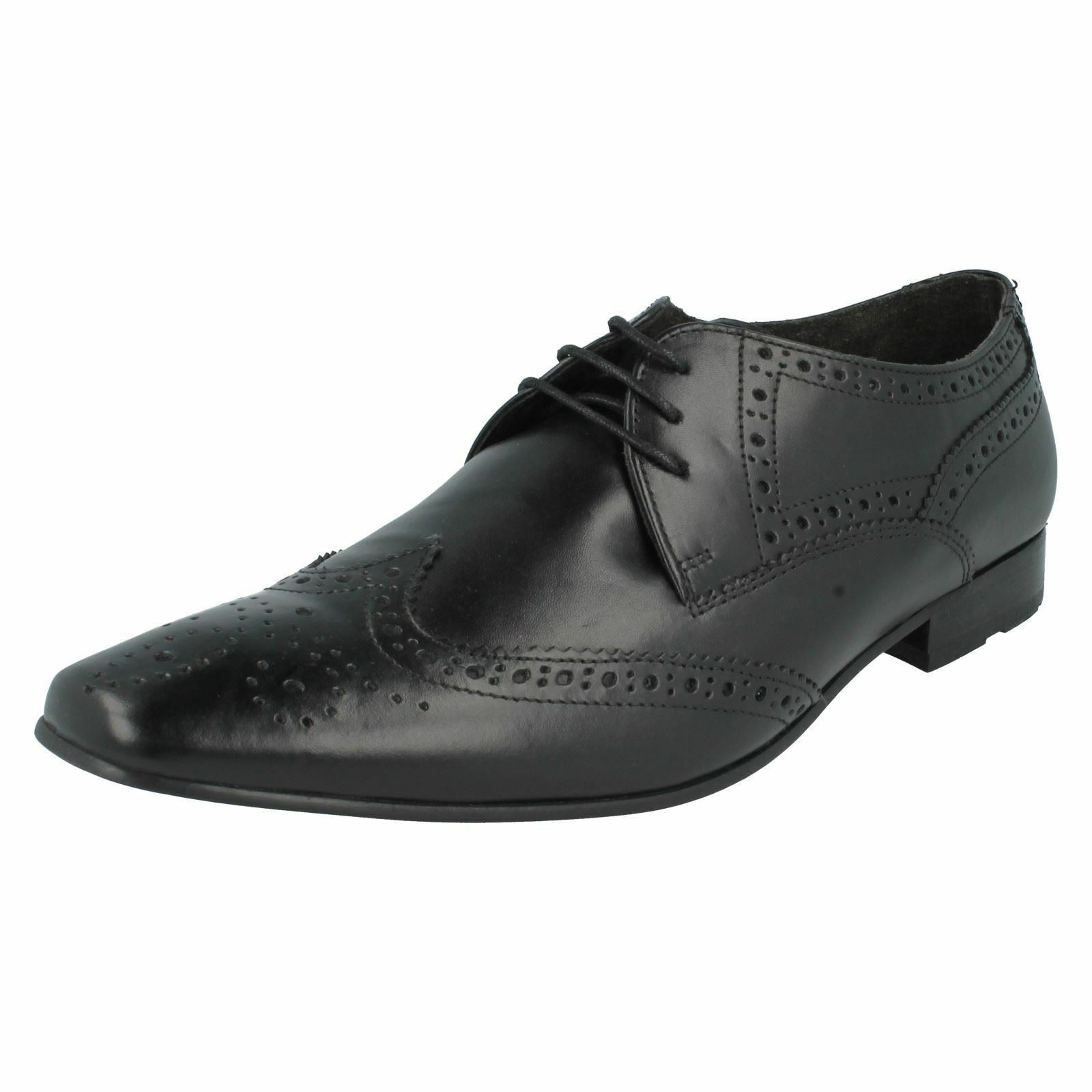 SALE Base London Wingtip 'Charles' Gents Black Leather Full Brogue Wingtip London Oxford Shoes a279a4