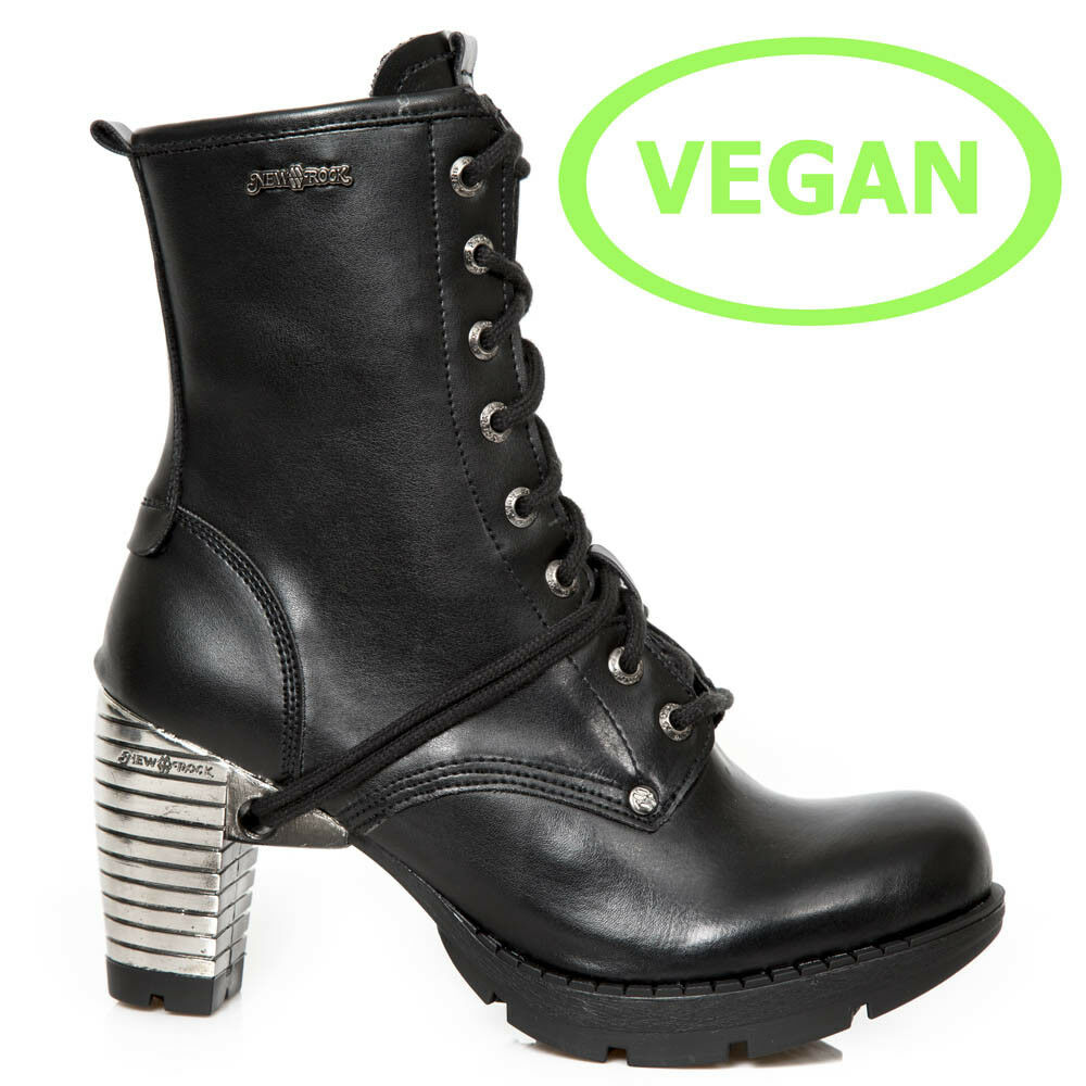 New Rock NR M.TR001 VS56 Schwarz - Stiefel, Vegan, Trail, Damen
