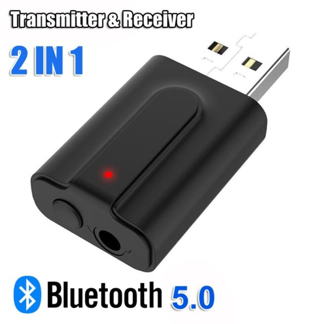 2 in1 USB Bluetooth 5.0 Transmitter Receiver 3.5mm Wireless Stereo Audio Adapter