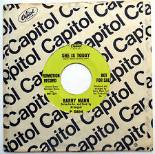 BARRY MANN 45 She Is Today / Where Do I Go FromHere VG++ Psych PROMO Pop e869