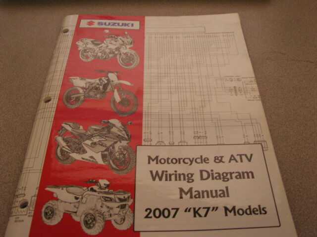Suzuki Motorcycle  U0026 Atv Wiring Diagrams Manual 2007 K7