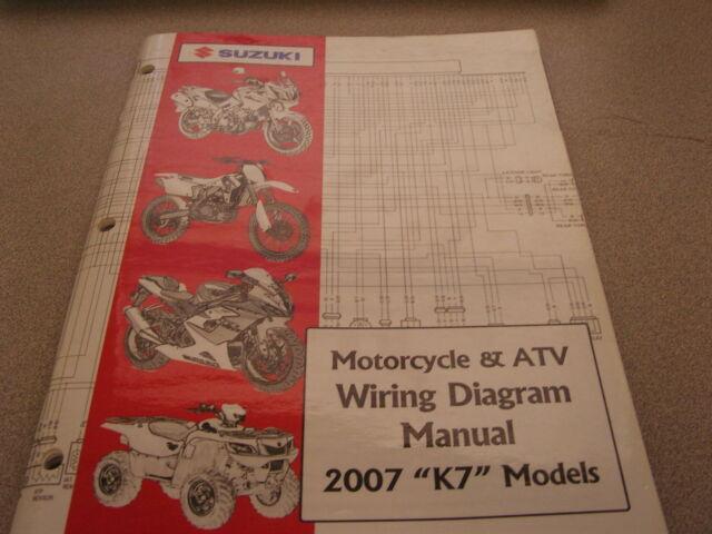Suzuki Motorcycle  U0026 Atv Wiring Diagrams Manual 2007 K7 99923