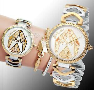 Just-Cavalli-jc1L045M0095-magnifica-armbanduhr-damenuhr-zweifarbig-neu