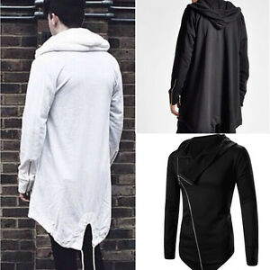 cdb198a3feda Fashion MEN Long Hooded Sweater Cardigan Cape Cloak Coat Outwear ...